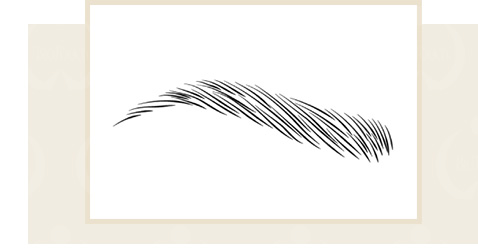手彫り(3D毛流眉)コースイメージ写真