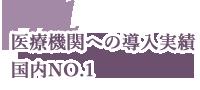 oint04 医療機関への導入実績 国内NO.1
